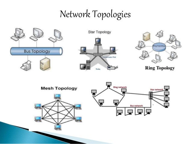 difference between bus tree ring mesh star topology of networking