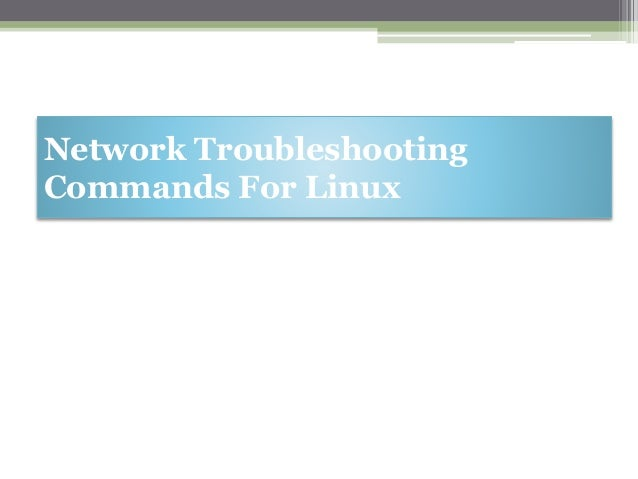 Basic network troubleshooting