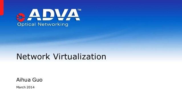 Aihua Guo March 2014 Network Virtualization