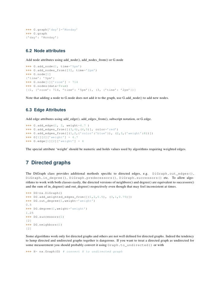 Networkx tutorial