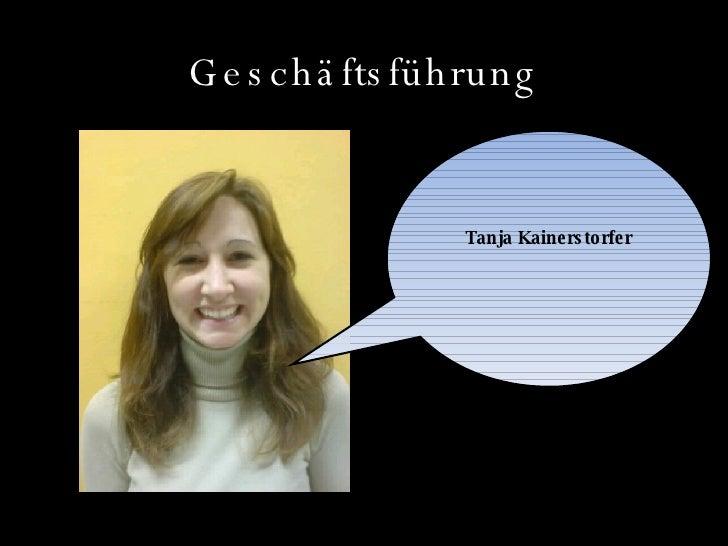 Geschäftsführung Tanja Kainerstorfer