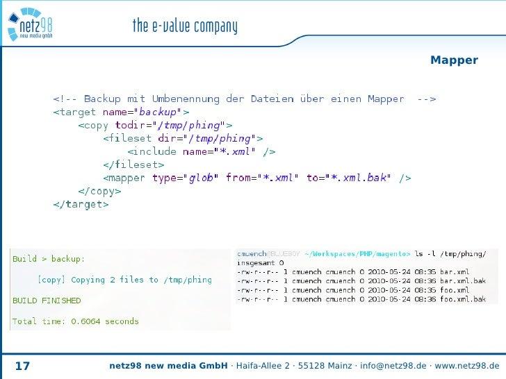 Mapper     17   netz98 new media GmbH · Haifa-Allee 2 · 55128 Mainz · info@netz98.de · www.netz98.de