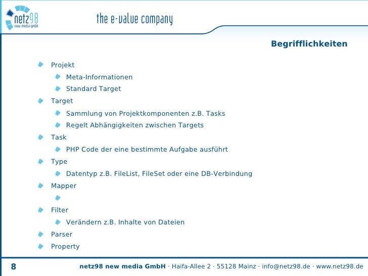 Begrifflichkeiten      Projekt          Meta-Informationen          Standard Target     Target          Sammlung von Proje...