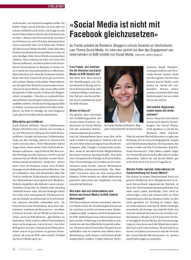 Netzwoche Interview Social Media ist nicht mit Facebook gleichzusetzen Slide 3