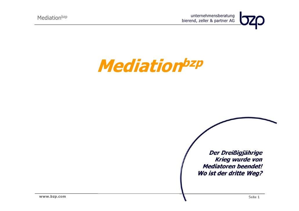 Mediationbzp                 unternehmensberatung                        bierend, zeller & partner AG               Mediat...