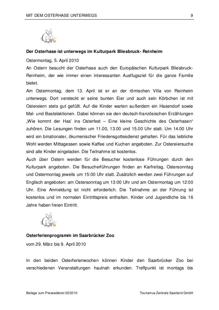MIT DEM OSTERHASE UNTERWEGS                                                               9Der Osterhase ist unterwegs im ...