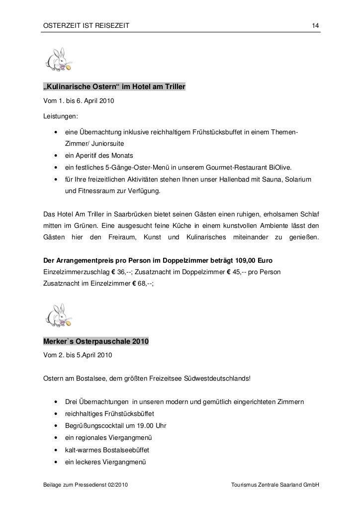 """OSTERZEIT IST REISEZEIT                                                                         14""""Kulinarische Ostern"""" im..."""