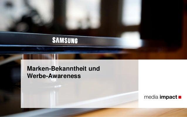 Marken-Bekanntheit und Werbe-Awareness
