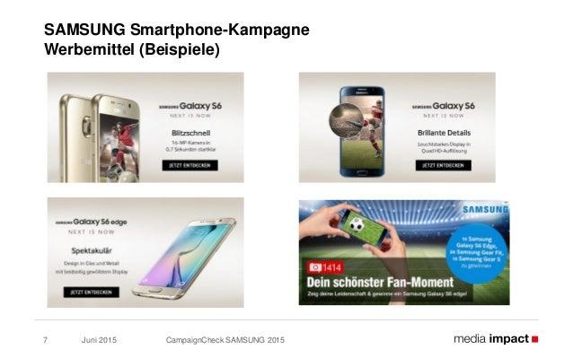 Juni 2015 CampaignCheck SAMSUNG 20157 SAMSUNG Smartphone-Kampagne Werbemittel (Beispiele)