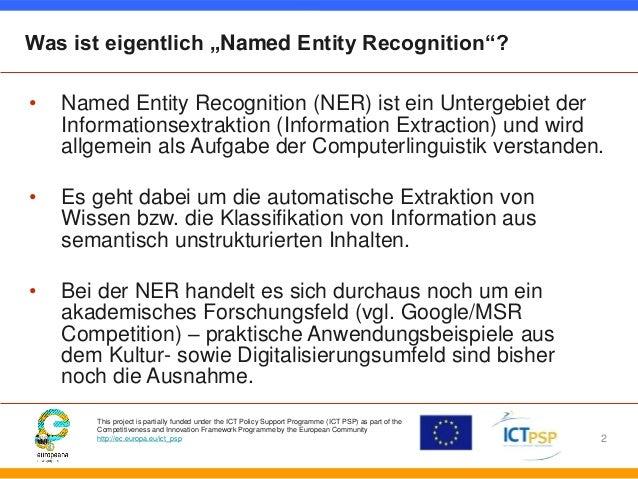 Bessere Suchergebnisse durch Named Entity Recognition Slide 2