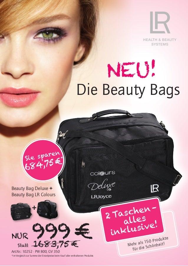 NUR 999€Statt 1683,75€ NEU! Die Beauty Bags Beauty Bag Deluxe + Beauty Bag LR Colours Art.Nr.: 10252 · PW 800, GV 350 *i...