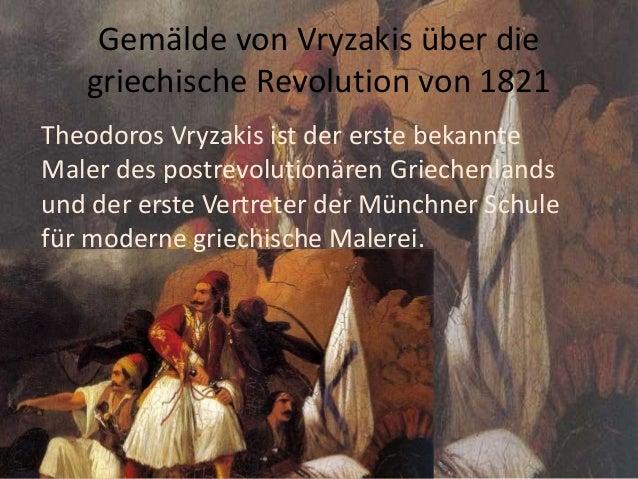Gemälde von Vryzakis über die griechische Revolution von 1821 Theodoros Vryzakis ist der erste bekannte Maler des postrevo...