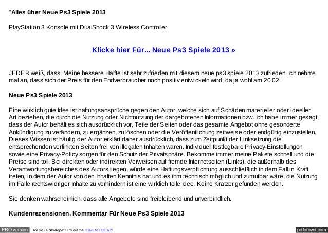 """""""Alles über Neue Ps3 Spiele 2013  PlayStation 3 Konsole mit DualShock 3 Wireless Controller                               ..."""