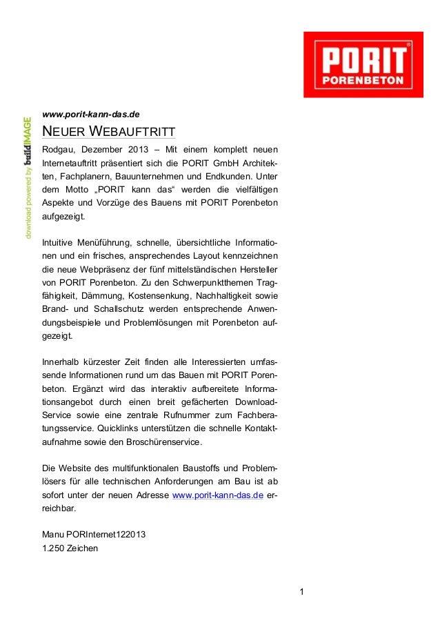 www.porit-kann-das.de  NEUER WEBAUFTRITT Rodgau, Dezember 2013 – Mit einem komplett neuen Internetauftritt präsentiert sic...