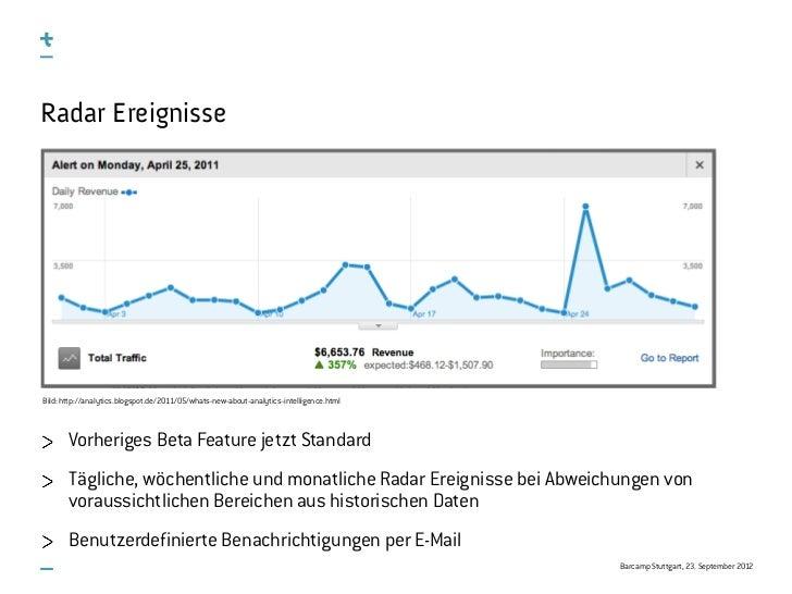 Radar EreignisseBild: http://analytics.blogspot.de/2011/05/whats-new-about-analytics-intelligence.html       Vorheriges Be...