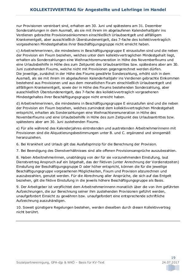 Kollektivvertrag Für Angestellte Und Lehrlinge Im Handel