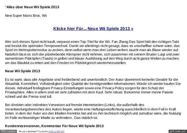 """""""Alles über Neue Wii Spiele 2013  New Super Mario Bros. Wii                                                  Klicke hier F..."""
