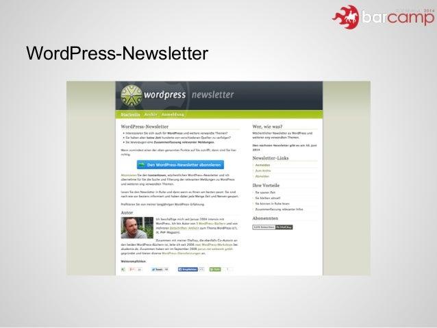 WordPress-Newsletter