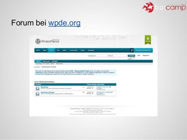 Forum bei wpde.org