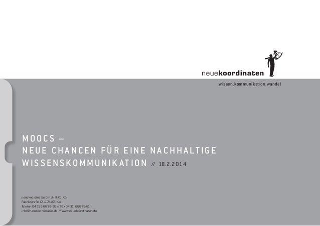 neuekoordinaten GmbH & Co.KG Fabrikstraße 12 // 24103 Kiel Telefon 0431 6 66 86 60 // Fax 0431 66686 61 info@neuekoordina...