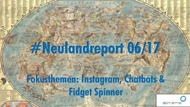 1 #Neulandreport 06/17 Fokusthemen: Instagram, Chatbots & Fidget Spinner