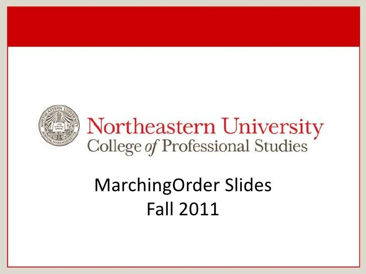 MarchingOrder Slides<br />Fall 2011<br />