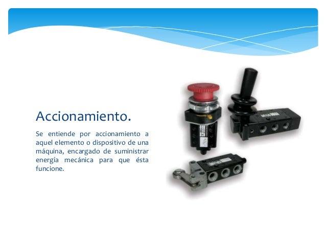 Se entiende por accionamiento a aquel elemento o dispositivo de una máquina, encargado de suministrar energía mecánica par...
