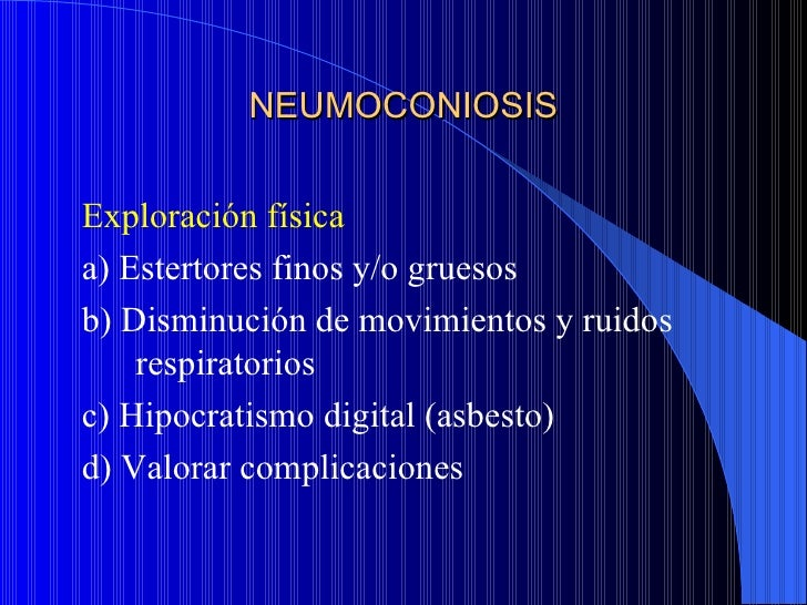 Neumoconiosis