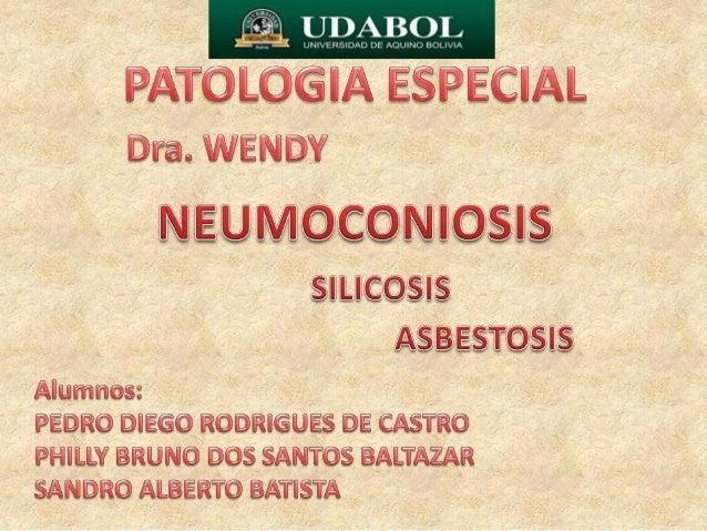 • Las neumoconiosis corresponden a un grupo deenfermedades que actualmente son incluidas dentrode la llamada patología amb...