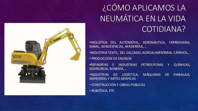 Máquinas hidráulicas y neumáticas ejemplos