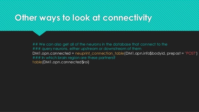 Other ways to look at connectivity ## Let's have a look at what the strongest downstream partners look like DM1.opn.connec...