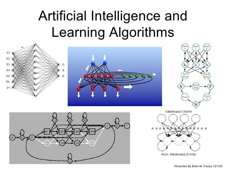 Artificial Intelligence and Learning Algorithms Presented By Brian M. Frezza 12/1/05