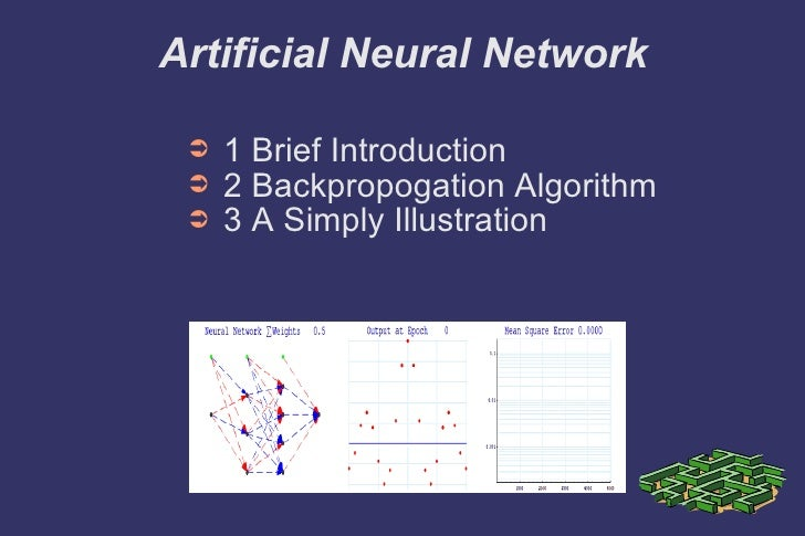 Artificial Neural Network <ul><li>1 Brief Introduction </li></ul><ul><li>2 Backpropogation Algorithm </li></ul><ul><li>3 A...