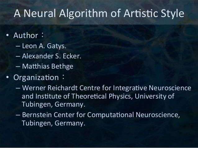 Neural Art (English Version) Slide 2