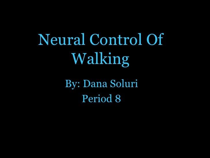 Neural Control Of Walking By: Dana Soluri Period 8