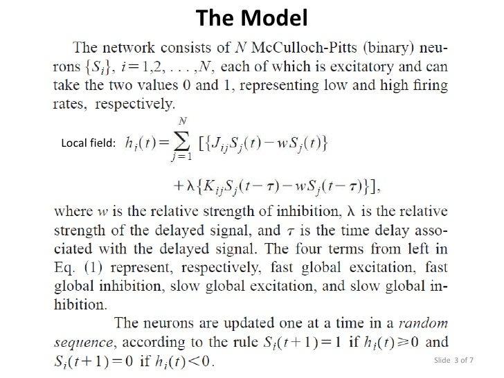 Stochastic Neural Network Model: Part 1 Slide 3