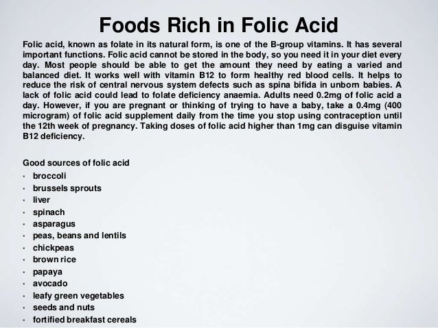 low folic acid attributed to the formation of spina bifida Folic acid is the synthetic form of folate of all the benefits of folic acid --such as spina bifida and anencephaly--are birth defects that affect the brain.