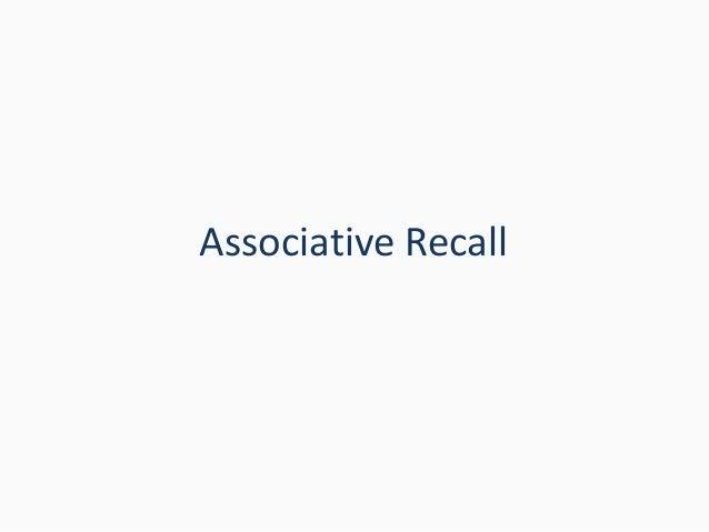 Associative Recall