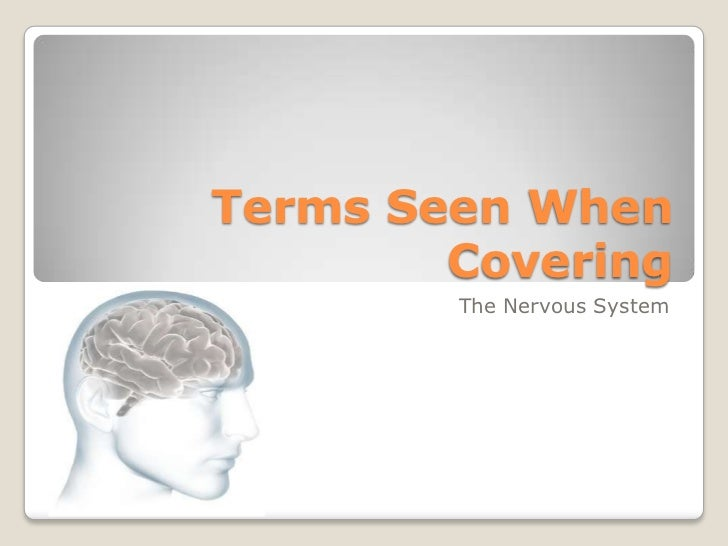 Terms Seen When Covering<br />The Nervous System<br />
