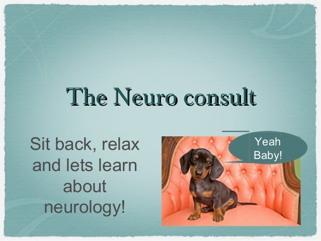 The Neuro consultThe Neuro consult Sit back, relax and lets learn about neurology! Yeah Baby!