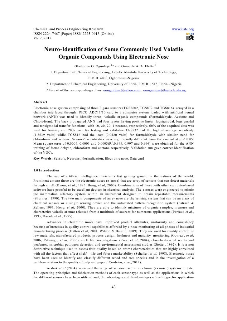 Chemical and Process Engineering Research                                                       www.iiste.orgISSN 2224-746...