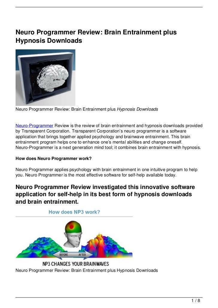 Neuro Programmer Review: Brain Entrainment plusHypnosis DownloadsNeuro Programmer Review: Brain Entrainment plus Hypnosis ...