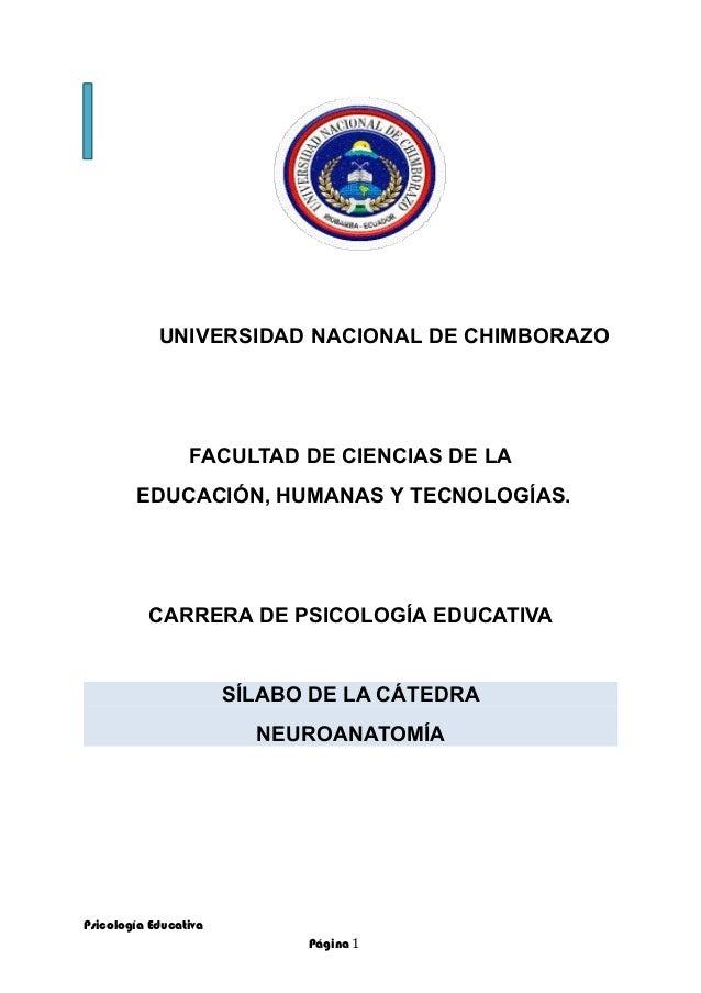 UNIVERSIDAD NACIONAL DE CHIMBORAZO FACULTAD DE CIENCIAS DE LA EDUCACIÓN, HUMANAS Y TECNOLOGÍAS. CARRERA DE PSICOLOGÍA EDUC...