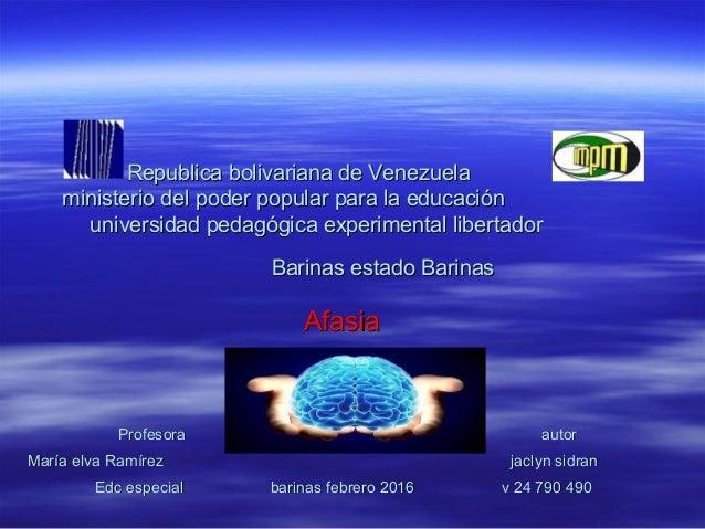 Republica bolivariana de VenezuelaRepublica bolivariana de Venezuela ministerio del poder popular para la educaciónministe...