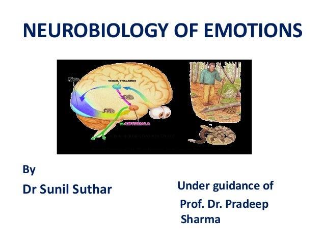 NEUROBIOLOGY OF EMOTIONS By Dr Sunil Suthar Under guidance of Prof. Dr. Pradeep Sharma