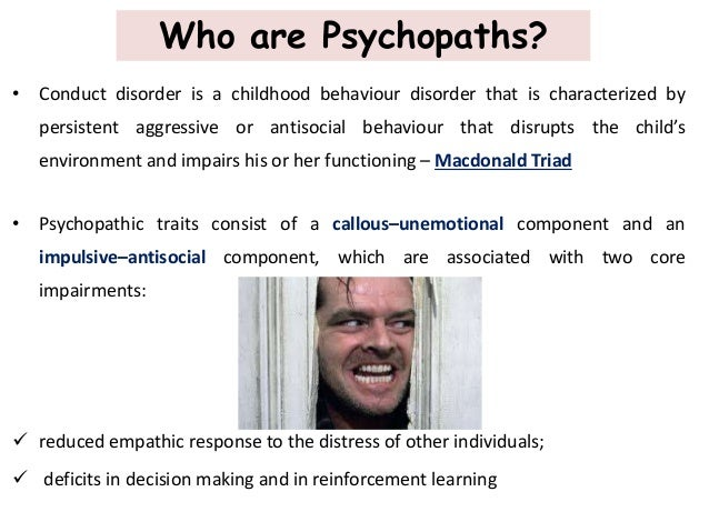 A short overview of a psychopathic personality