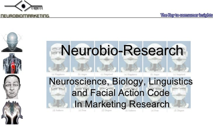 Neurobio-Research Neuroscience , B iology ,  Linguistics   and  Facial Action Code  In Marketing Research