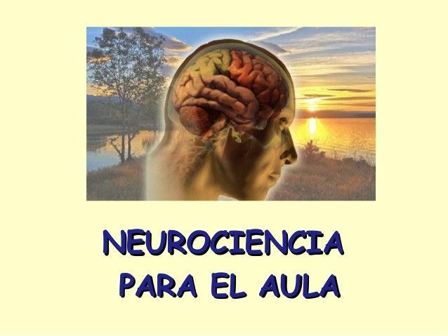 NEUROCIENCIANEUROCIENCIA PARA EL AULAPARA EL AULA