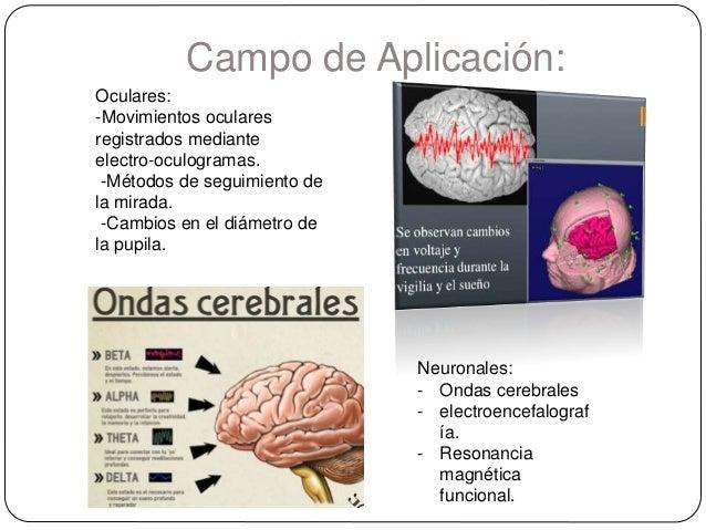 Campo de Aplicación: Oculares: -Movimientos oculares registrados mediante electro-oculogramas. -Métodos de seguimiento de ...
