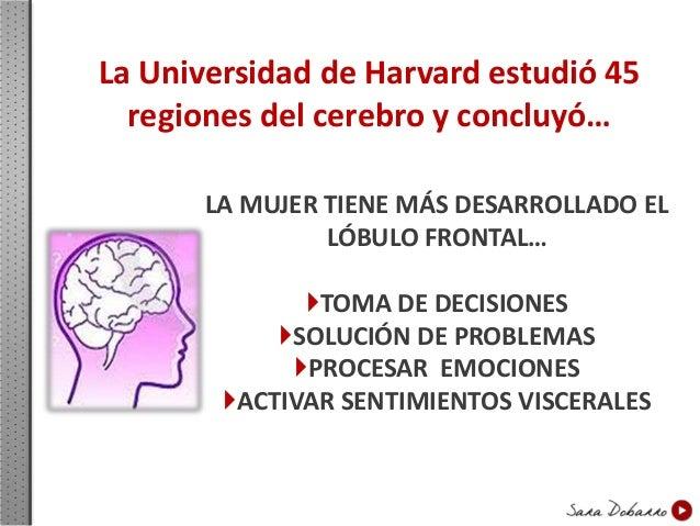 La Universidad de Harvard estudió 45 regiones del cerebro y concluyó… EL HOMBRE TIENE MÁS DESARROLLADA LA CORTEZA PARIETAL...